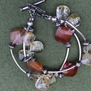 🐝Sterling silver and decorative stone bracelet